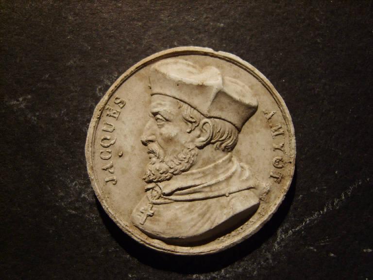 Ritratto di Jacques Amiot (calco, opera isolata) - ambito italiano (prima metà sec. XIX)