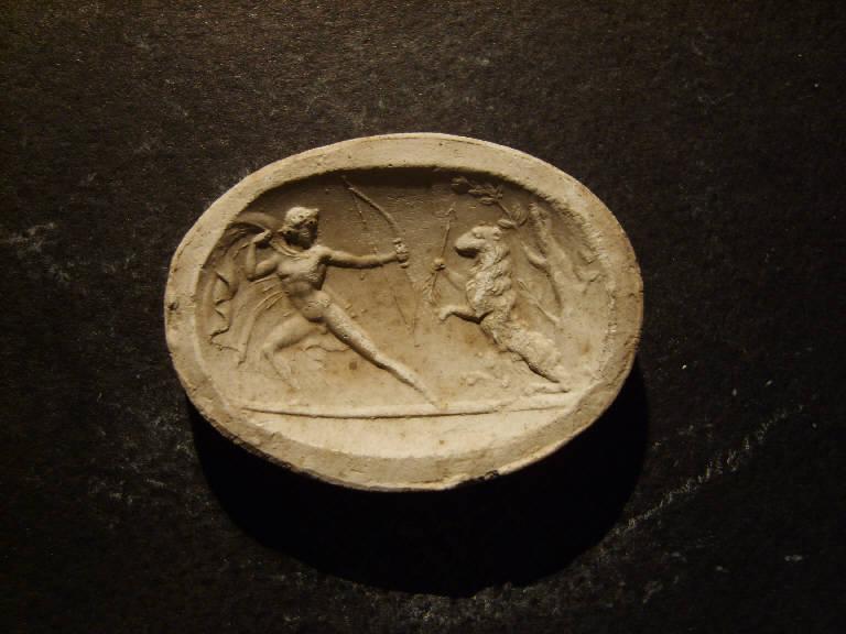 Ercole e la cerva (calco, opera isolata) - ambito italiano (prima metà sec. XIX)
