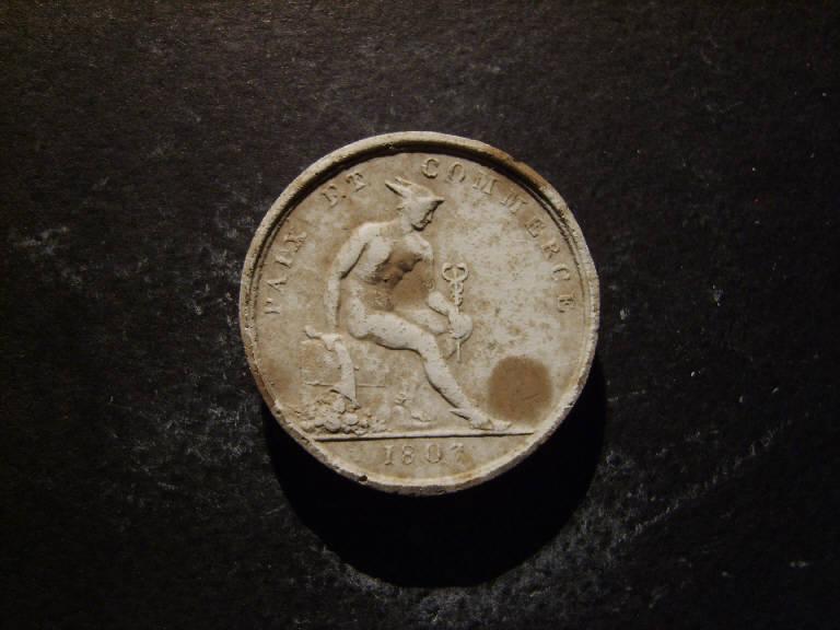Mercurio come protettore del commercio (calco, opera isolata) - ambito italiano (prima metà sec. XIX)