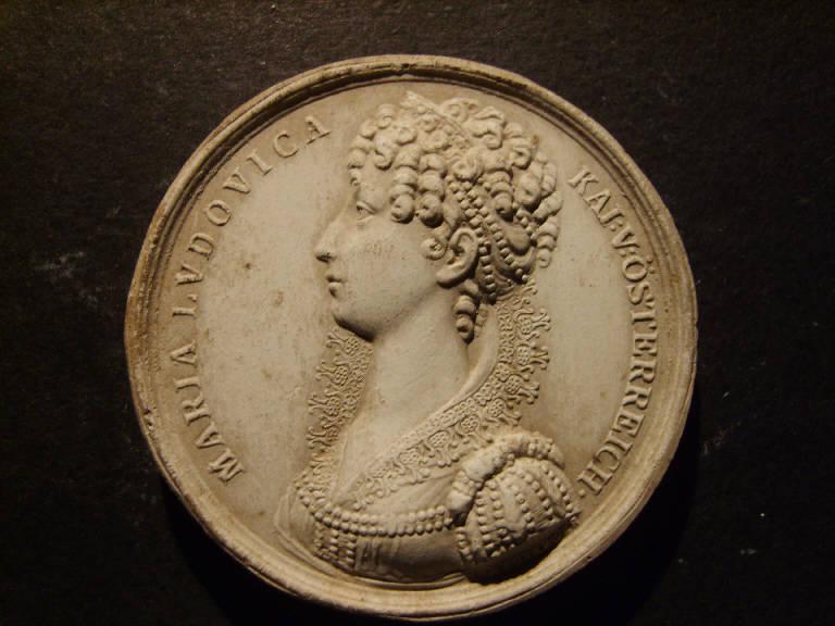 Ritratto di Maria Ludovica d'Austria (calco, opera isolata) - ambito italiano (prima metà sec. XIX)