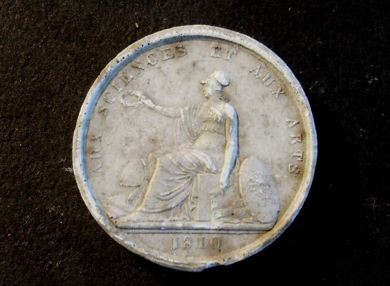 Minerva patrona delle scienze e delle arti (calco, opera isolata) - ambito italiano (prima metà sec. XIX)