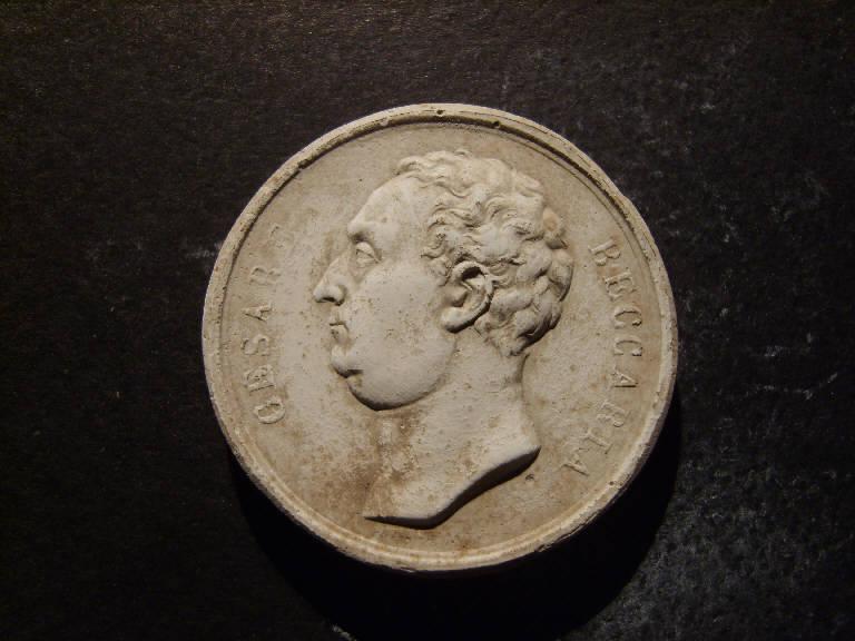 Ritratto di Cesare Beccaria (calco, opera isolata) - ambito italiano (prima metà sec. XIX)