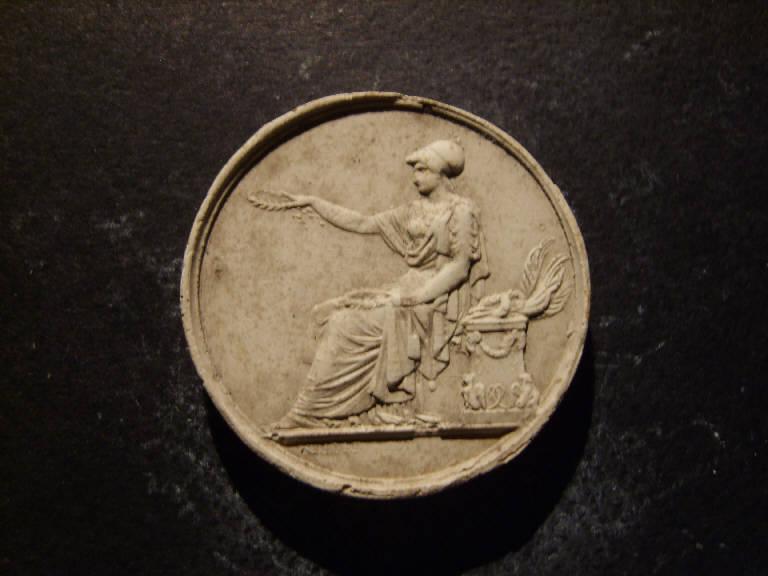 Minerva porge una corona d'alloro (calco, opera isolata) - ambito italiano (prima metà sec. XIX)