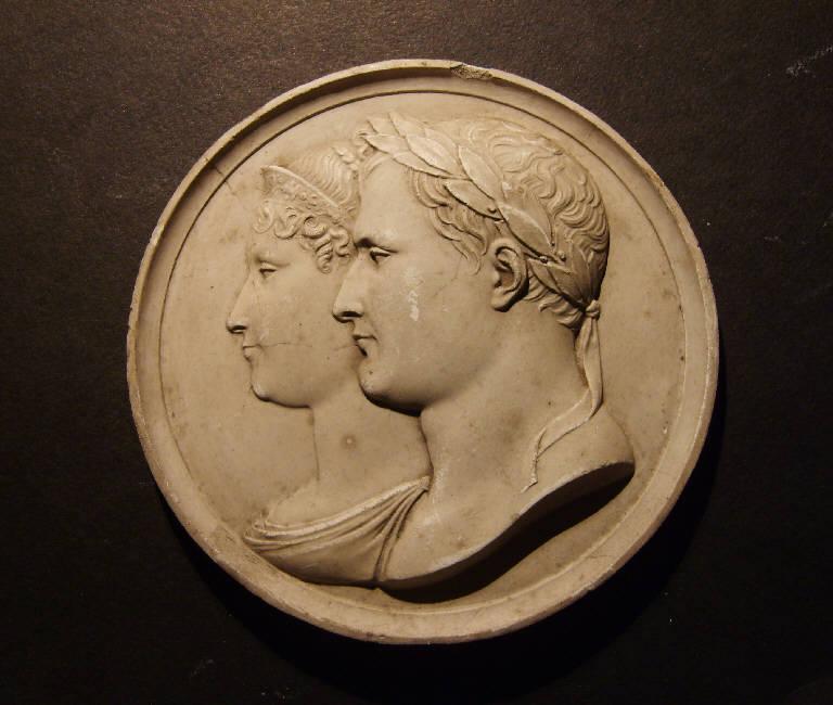 Ritratto di Napoleone Bonaparte e di Maria Lodovica d'Austria (calco, opera isolata) - ambito italiano (prima metà sec. XIX)