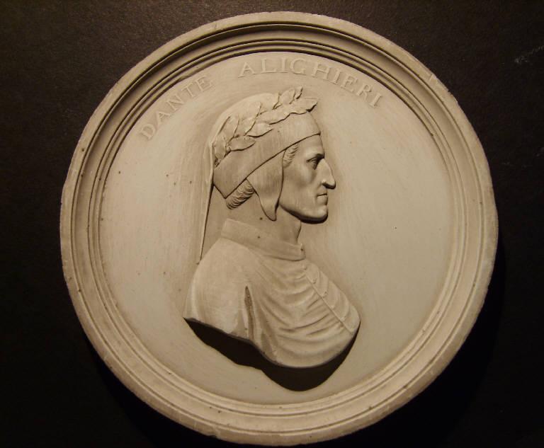 Ritratto di Dante Alighieri (calco, opera isolata) - ambito italiano (prima metà sec. XIX)