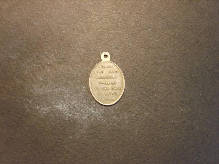 Madonna immacolata (medaglia, opera isolata) - ambito italiano (sec. XIX)