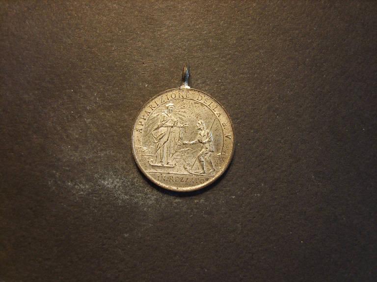 Apparizione della Madonna a Rezzato/ Santuario di Val Verde a Rezzato (medaglia, opera isolata) - ambito italiano (prima metà sec. XX)