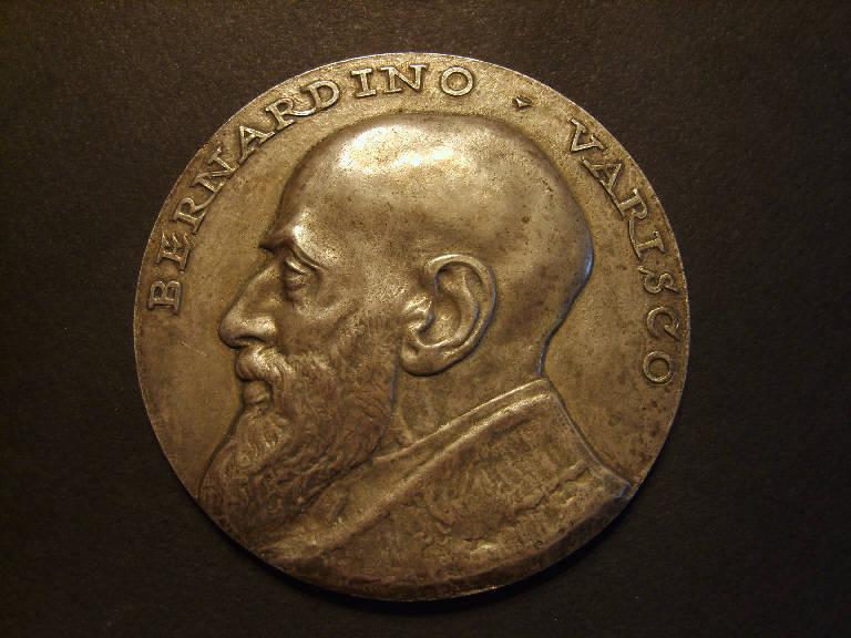 Ritratto di Bernardino Varisco (medaglia, opera isolata) - ambito italiano (sec. XX)