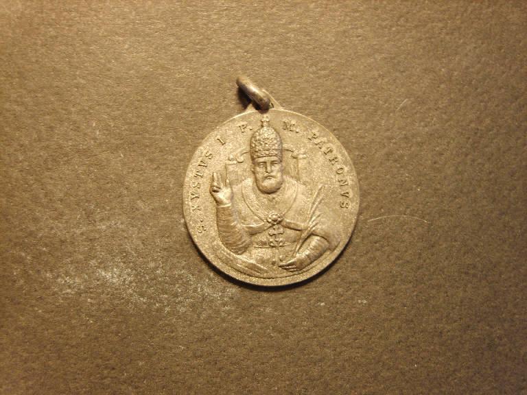 Medaglia commemorativa dell'ottavo centenario della traslazione del corpo di san Sisto I, San Sisto I (medaglia, opera isolata) - ambito italiano (sec. XX)