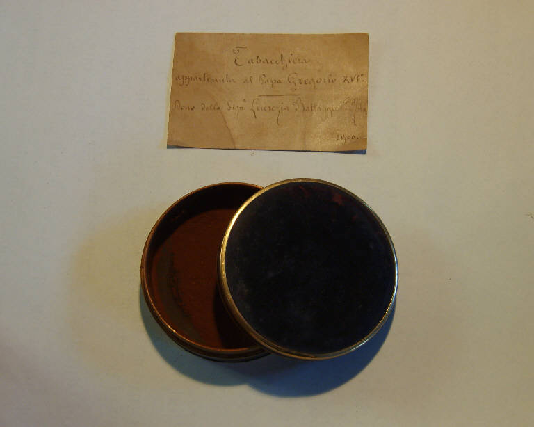 tabacchiera, opera isolata - ambito italiano (sec. XIX)