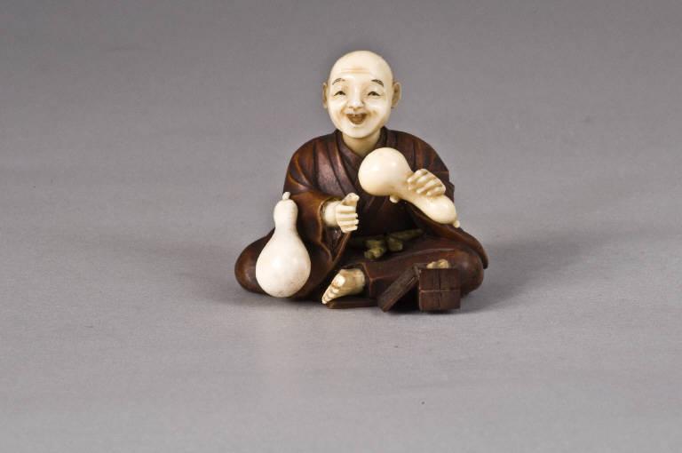 Artigiano con zucche, UOMO, VEGETALI (scultura, opera isolata) di Tomochika (fine sec. XIX)