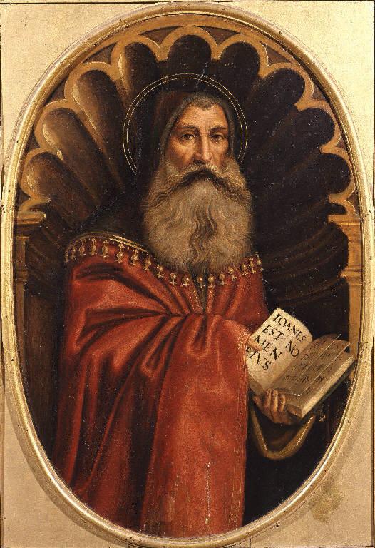 Figure di santi (polittico dipinto, insieme) di Boselli Antonio (inizio sec. XVI)