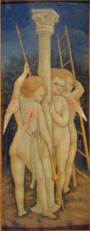 Angeli, Santi (polittico dipinto, insieme) di Maestro del 1458 (sec. XV)
