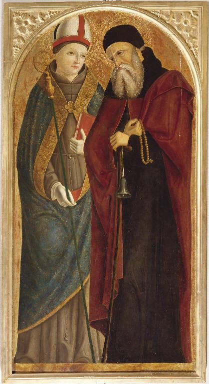 Matrimonio mistico di Santa Caterina d'Alessandria e Santi (polittico dipinto, insieme) di Marinoni Antonio (sec. XVI)
