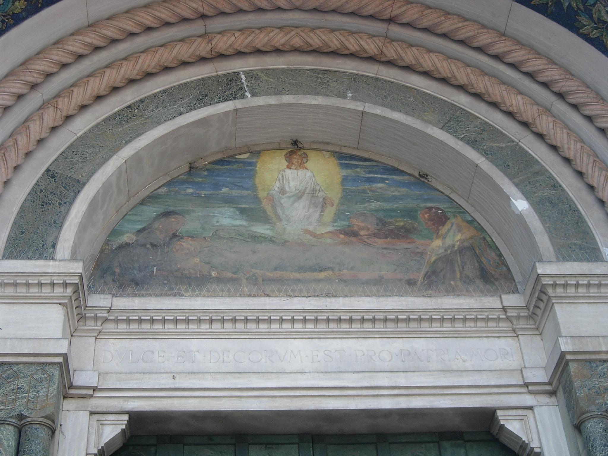 allegoria della morte del soldato (monumento ai caduti) di Barbanti Domenico, Casanova Achille, Cappelli Evaristo (sec. XX)