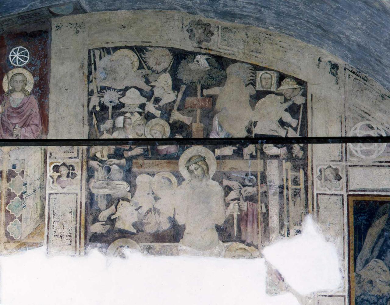 Trinità, Cristo in pietà, storia di S. Antonio Abate, San Giuliano (dipinto, ciclo) di Cenni di Francesco di Ser Cenni (fine sec. XIV)