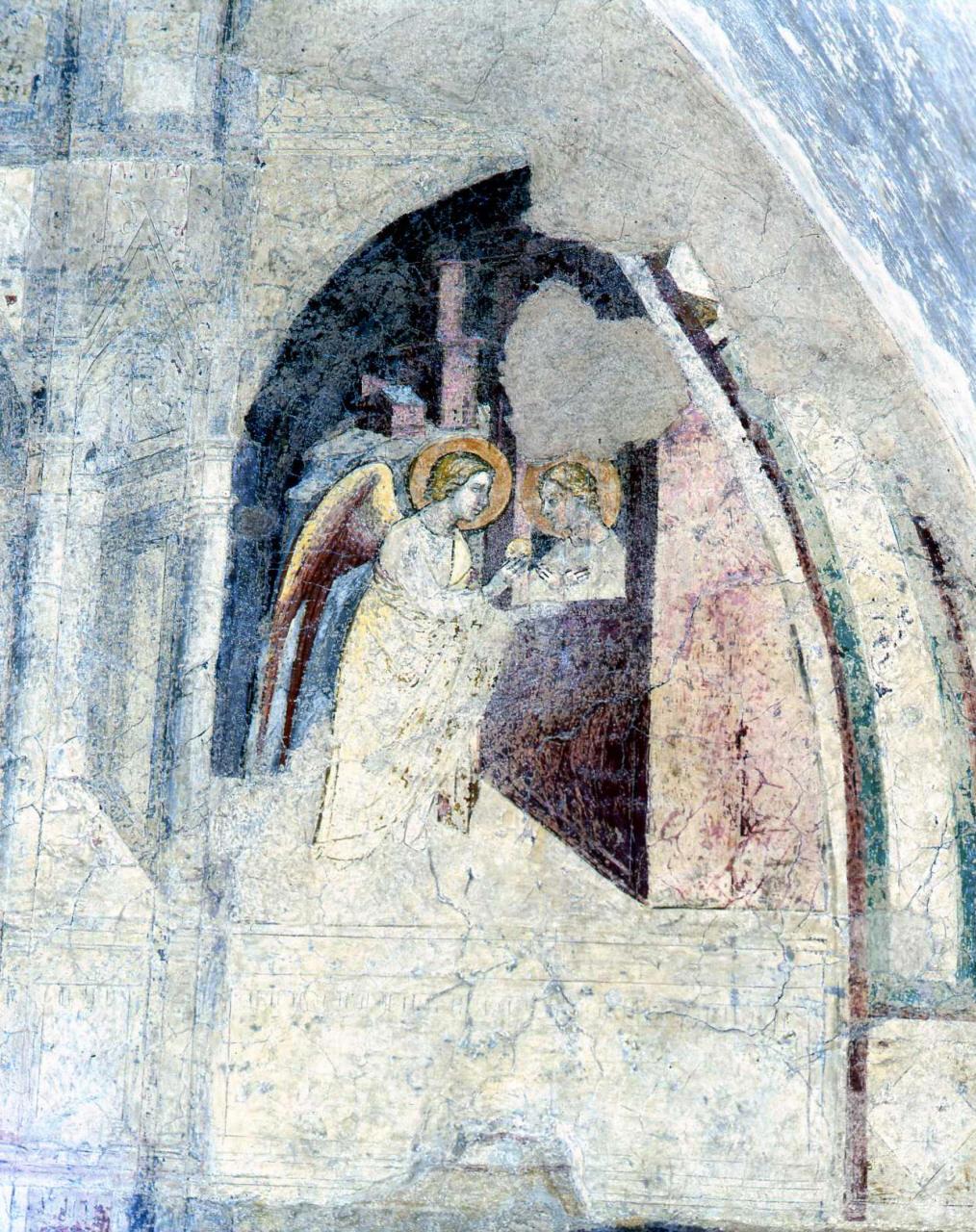 S. Apollonia imprigionata nutrita dall'angelo (dipinto, ciclo) di Cenni di Francesco di Ser Cenni (seconda metà sec. XIV)