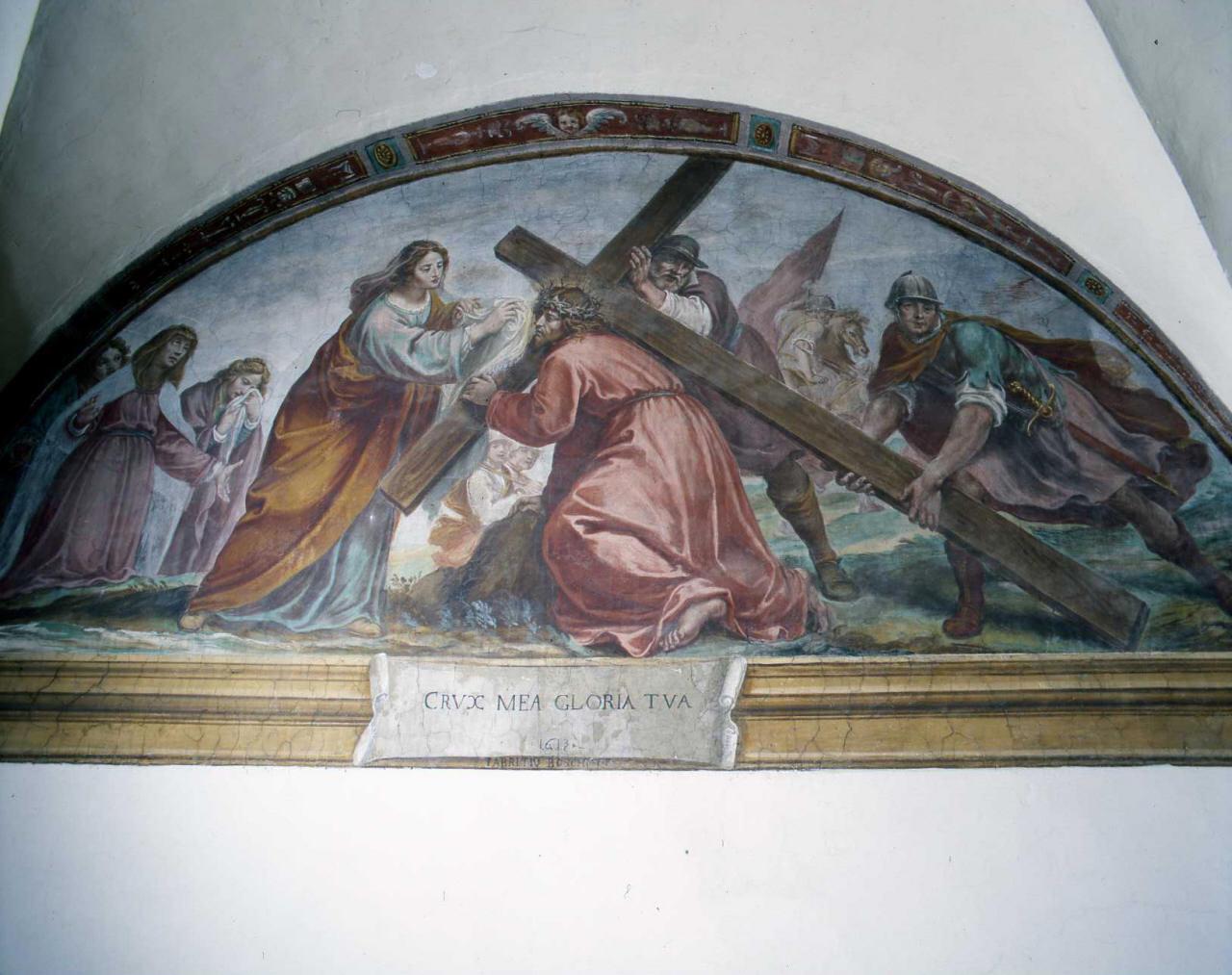 Cristo portacroce (dipinto) di Boschi Fabrizio (primo quarto sec. XVII)