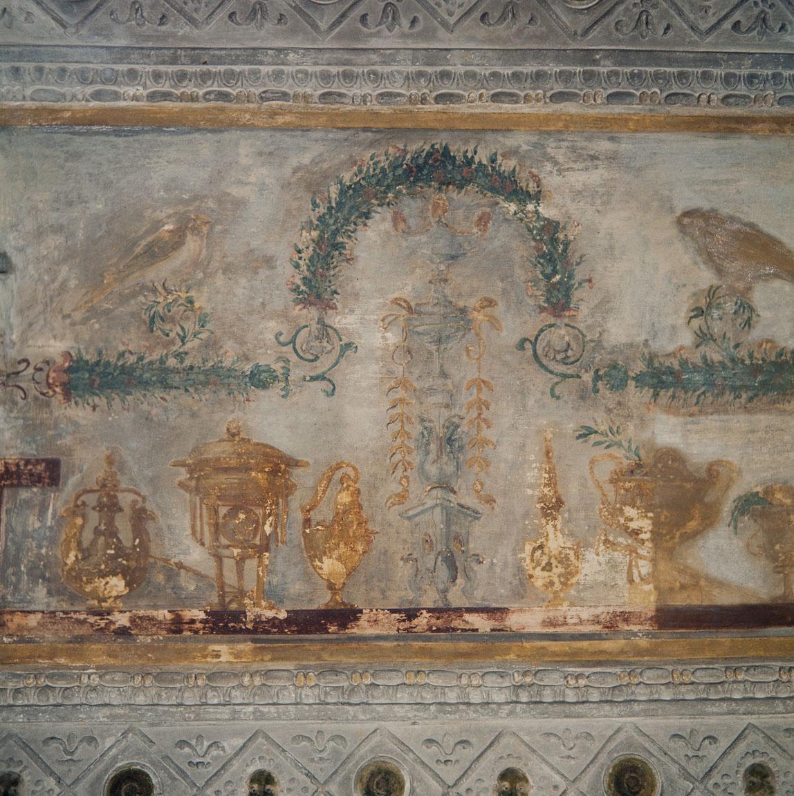 motivi decorativi a grottesche (decorazione plastico-pittorica, complesso decorativo) di Giovanni da Udine detto Giovanni Ricamatore, Pippi Giulio detto Giulio Romano (sec. XVI)