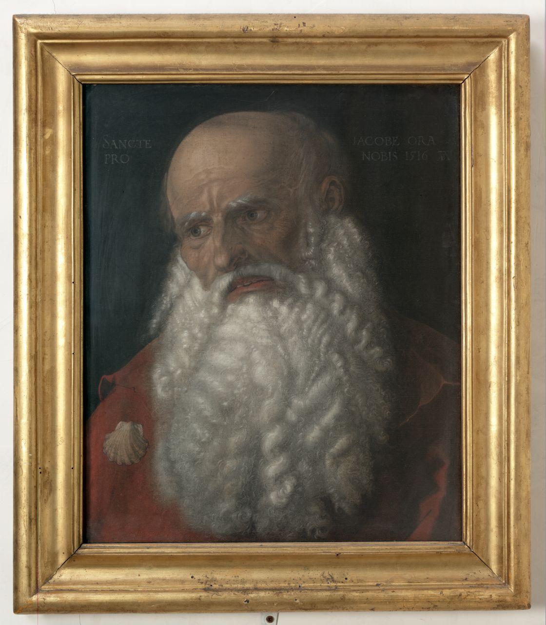 testa di San Giacomo il Maggiore (dipinto) di Dürer Albrecht (sec. XVI)