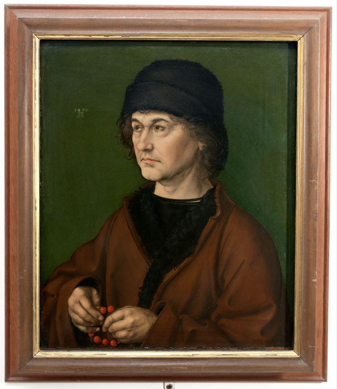 ritratto del padre di Dürer (dipinto) di Dürer Albrecht (sec. XV)