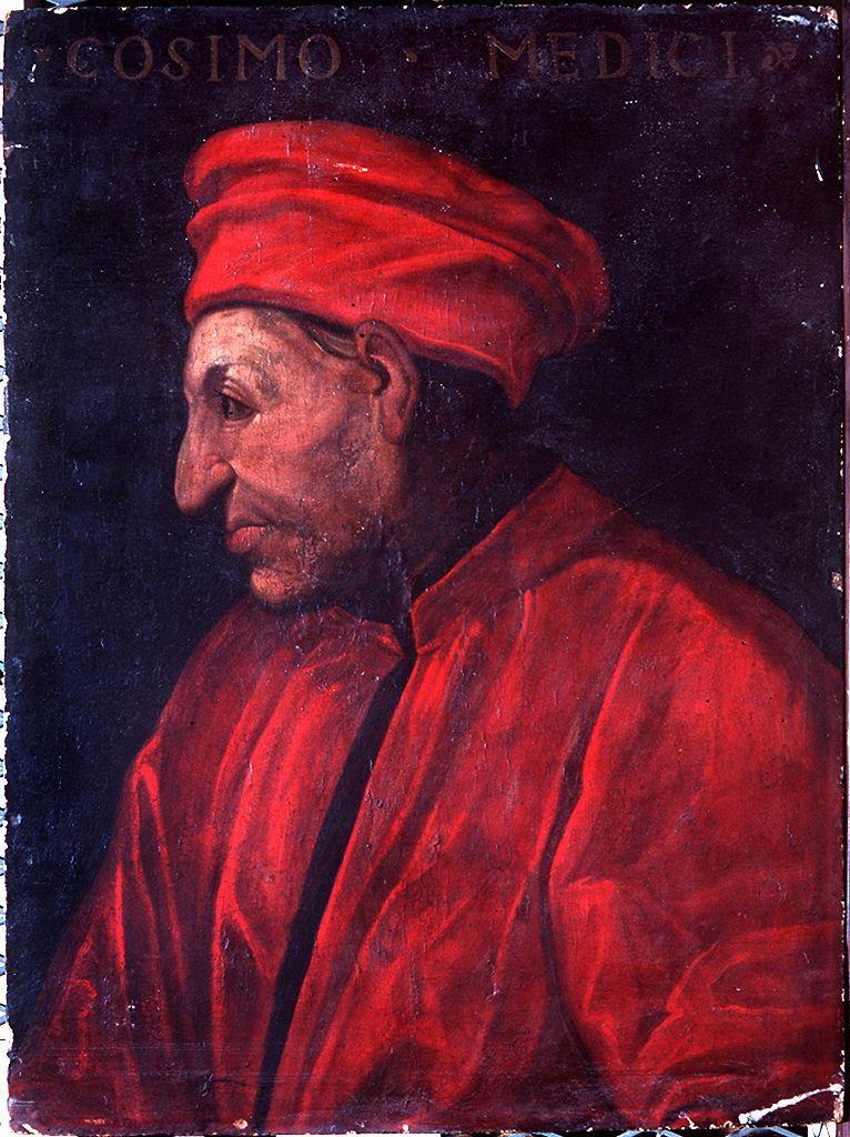 ritratto di Cosimo il Vecchio de' Medici (dipinto) di Dell'Altissimo Cristofano (sec. XVI)
