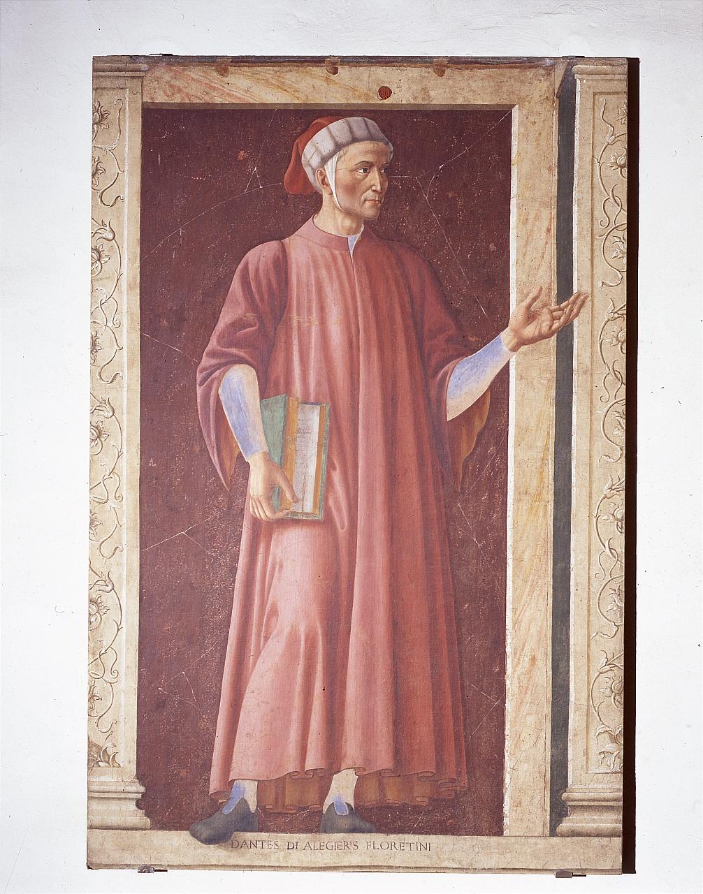 ritratto di Dante Alighieri (dipinto) di Andrea del Castagno (sec. XV)