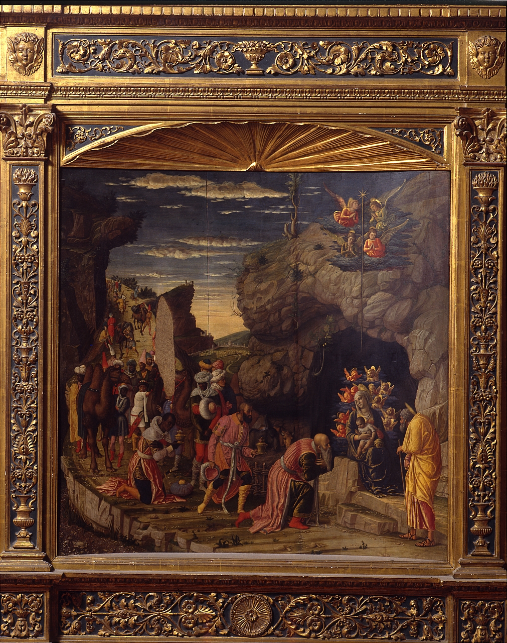 adorazione dei Re Magi (scomparto di trittico) di Mantegna Andrea (sec. XV)