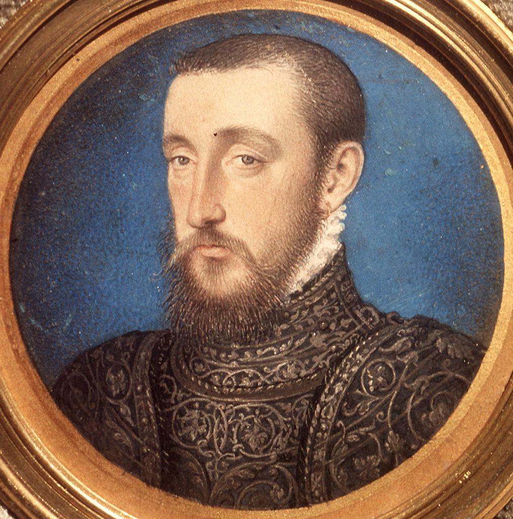 ritratto di Enrico II di Francia (miniatura) di Clouet François (sec. XVI)