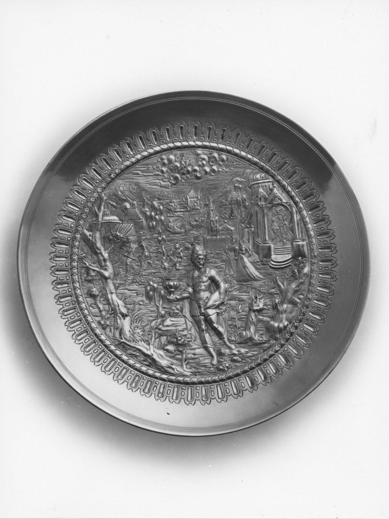 Allegoria del mese di Gennaio (coppa) di Hubner Paul (sec. XVI)