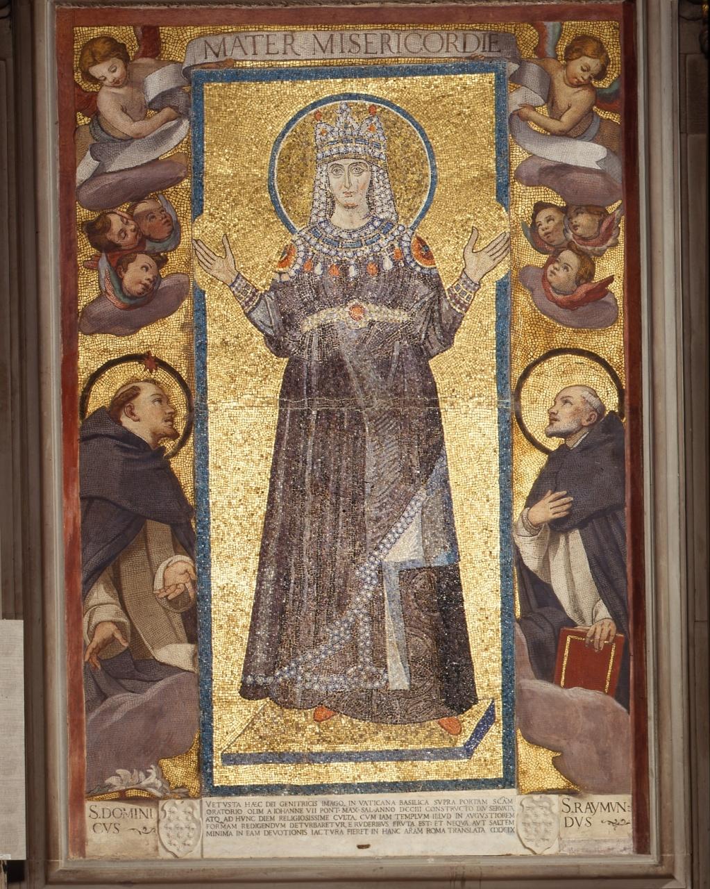 Madonna (decorazione musiva) - ambito romano-bizantino (sec. VIII)
