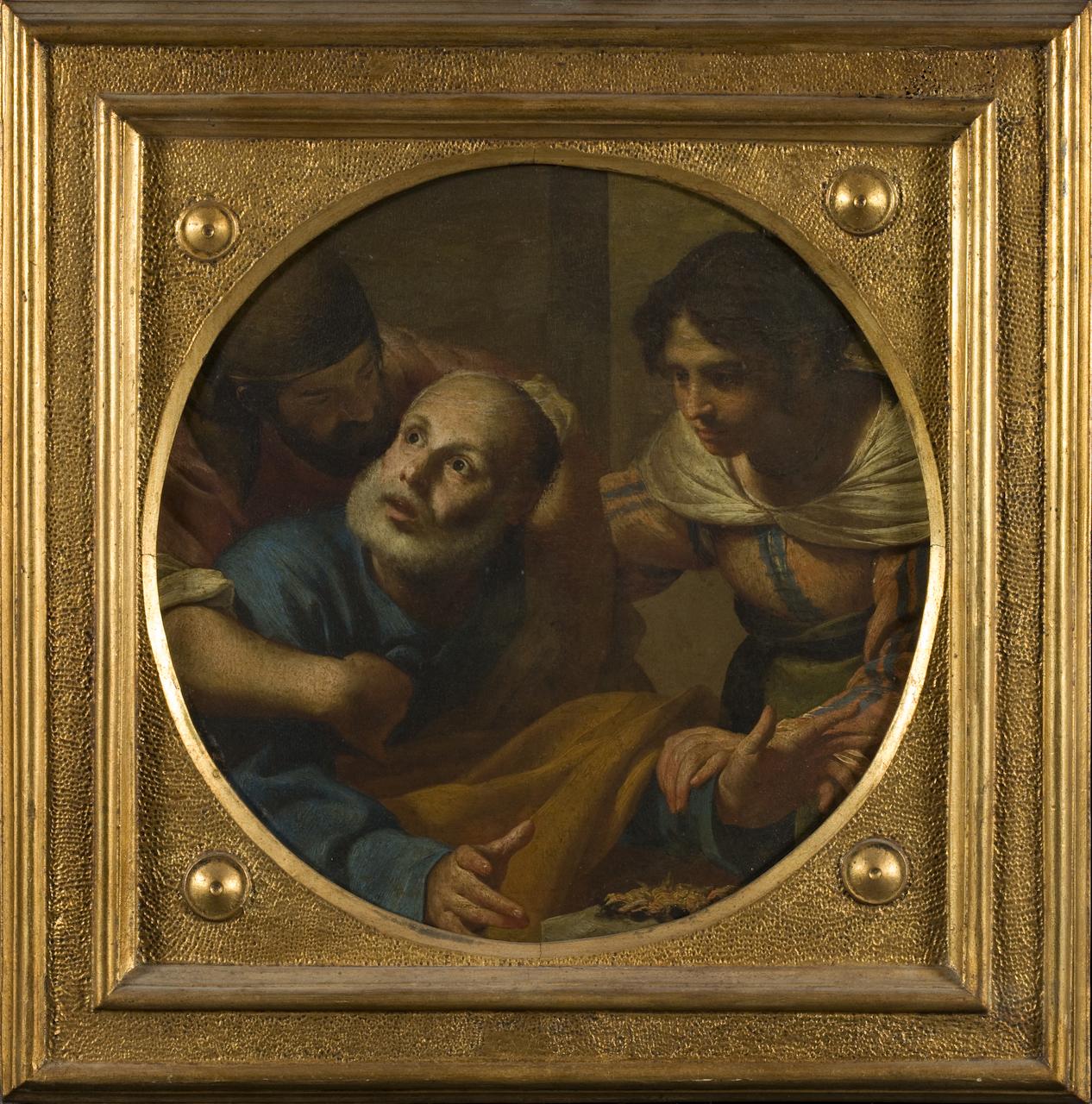 negazione di San Pietro (dipinto) di Guarino Francesco (sec. XVII)