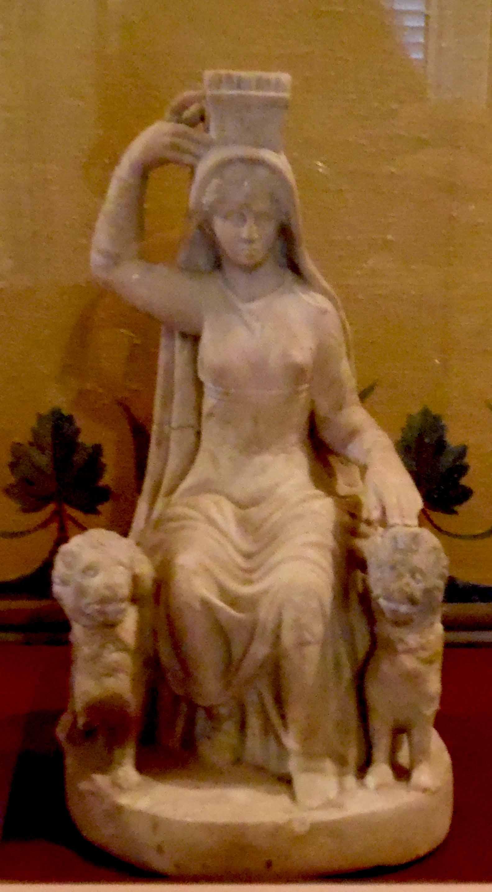 Statuetta ritraente figura femminile seduta (statuetta) - ambito romano (II)