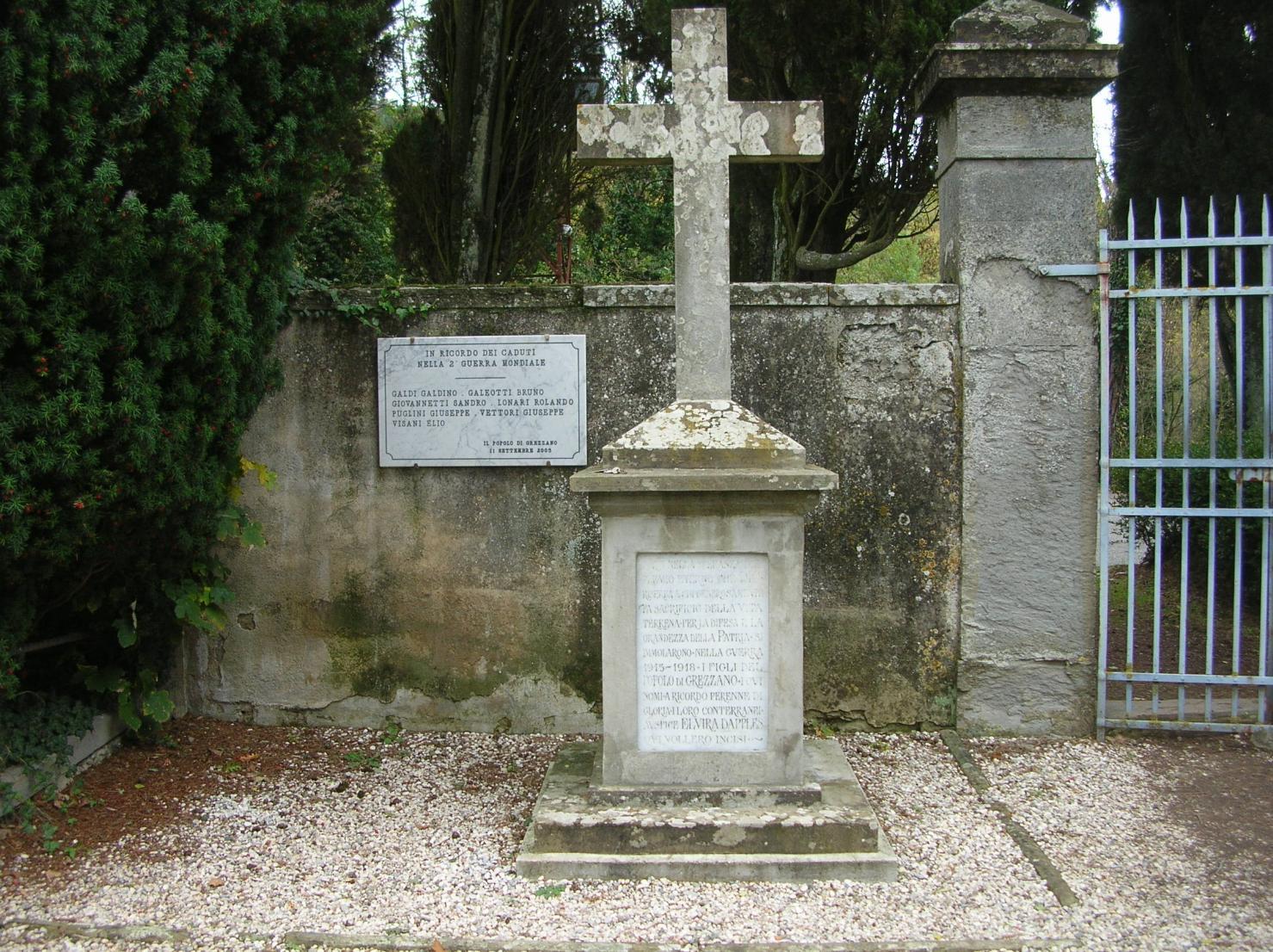 soggetto assente (monumento ai caduti - a cippo) - bottega toscana (sec. XX)