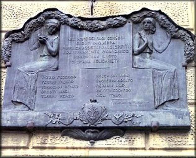 Figure femminili (monumento ai caduti - a lapide) di Passani Decio (XX)