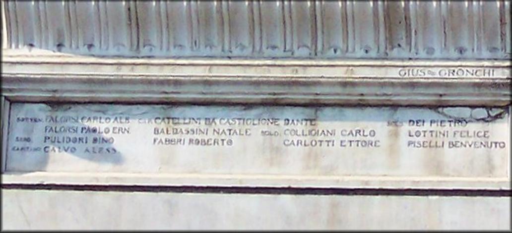 allegoria del sacrificio del soldato per la Patria (monumento ai caduti - a lapide) di Gronchi Giuseppe (sec. XX)