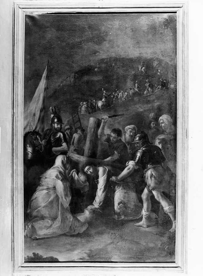 Cristo cade sotto la croce (dipinto) di Liani Francesco (seconda metà sec. XVIII)
