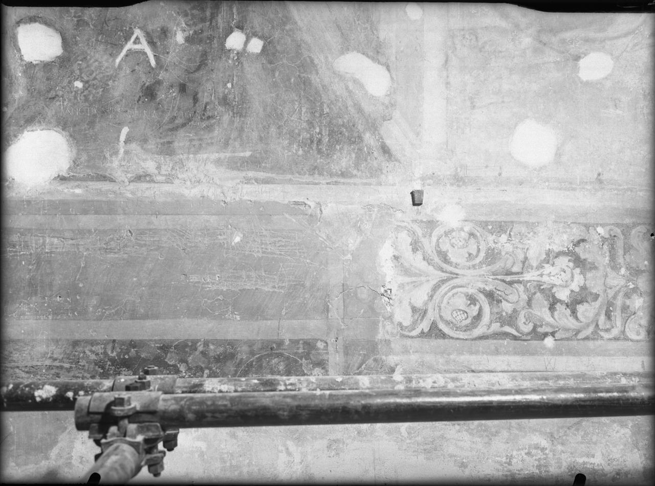 Elementi decorativi - Dipinti murali - Affreschi - Restauri (negativo) di Tosi, Libero, De' Grossi, Bertolino (terzo quarto XX)