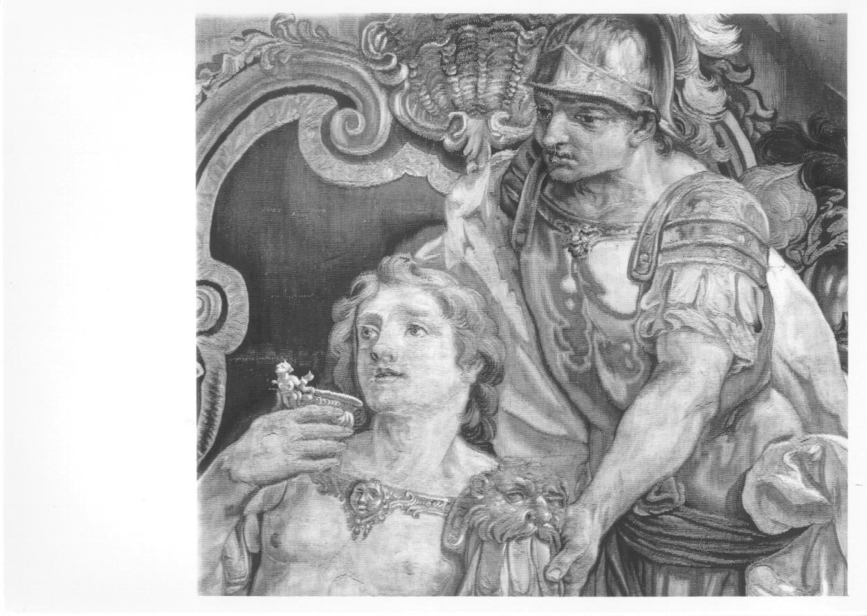 Alessandro Magno e il suo medico Filippo (arazzo, opera isolata) di Bruno Antonio, Pécheux Lorenzo, Pécheux Benedetto - manifattura torinese (sec. XIX, primo quarto)