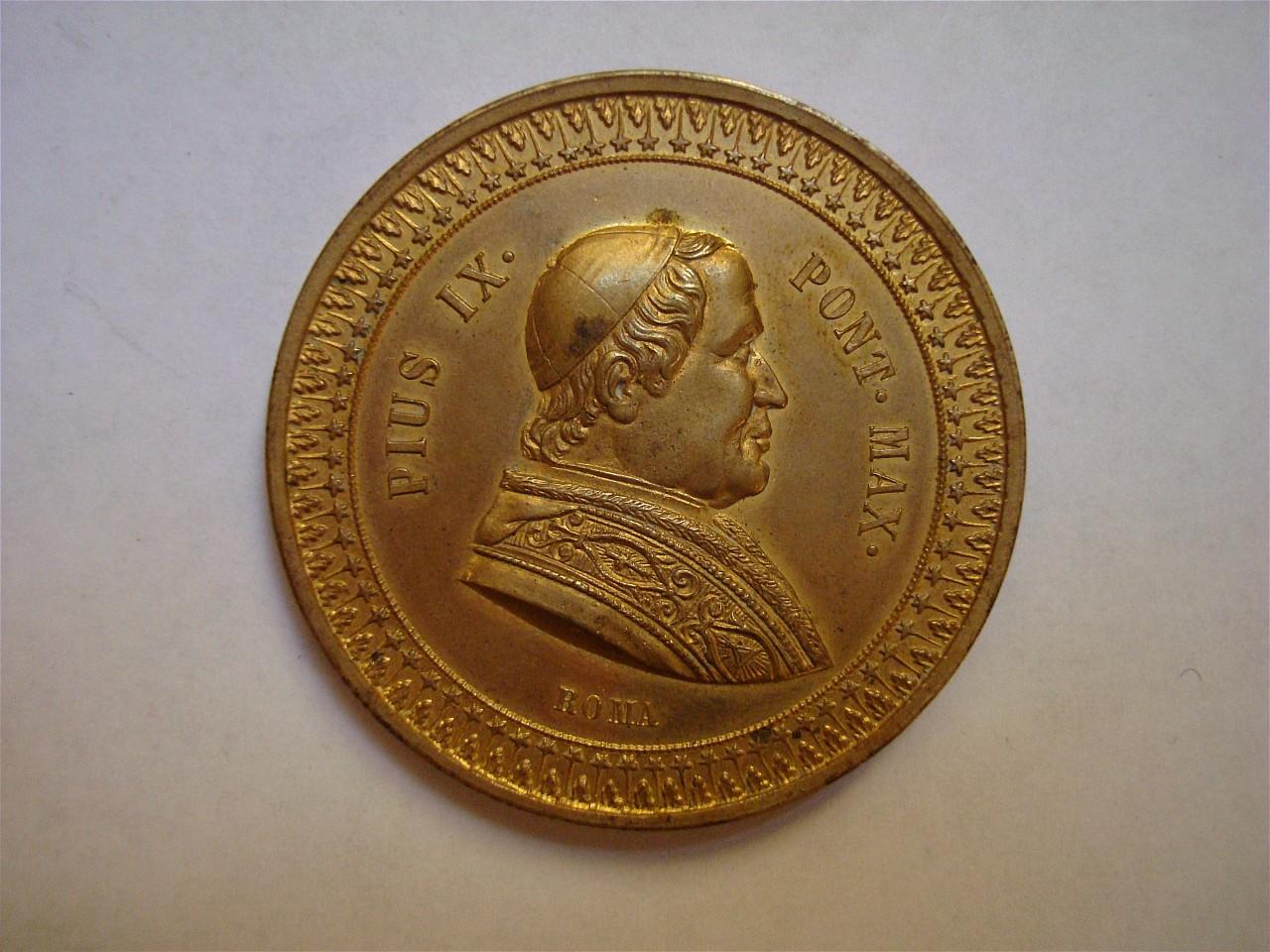ritratto di Pio IX, Immacolata Concezione (medaglia) - bottega romana (sec. XIX)