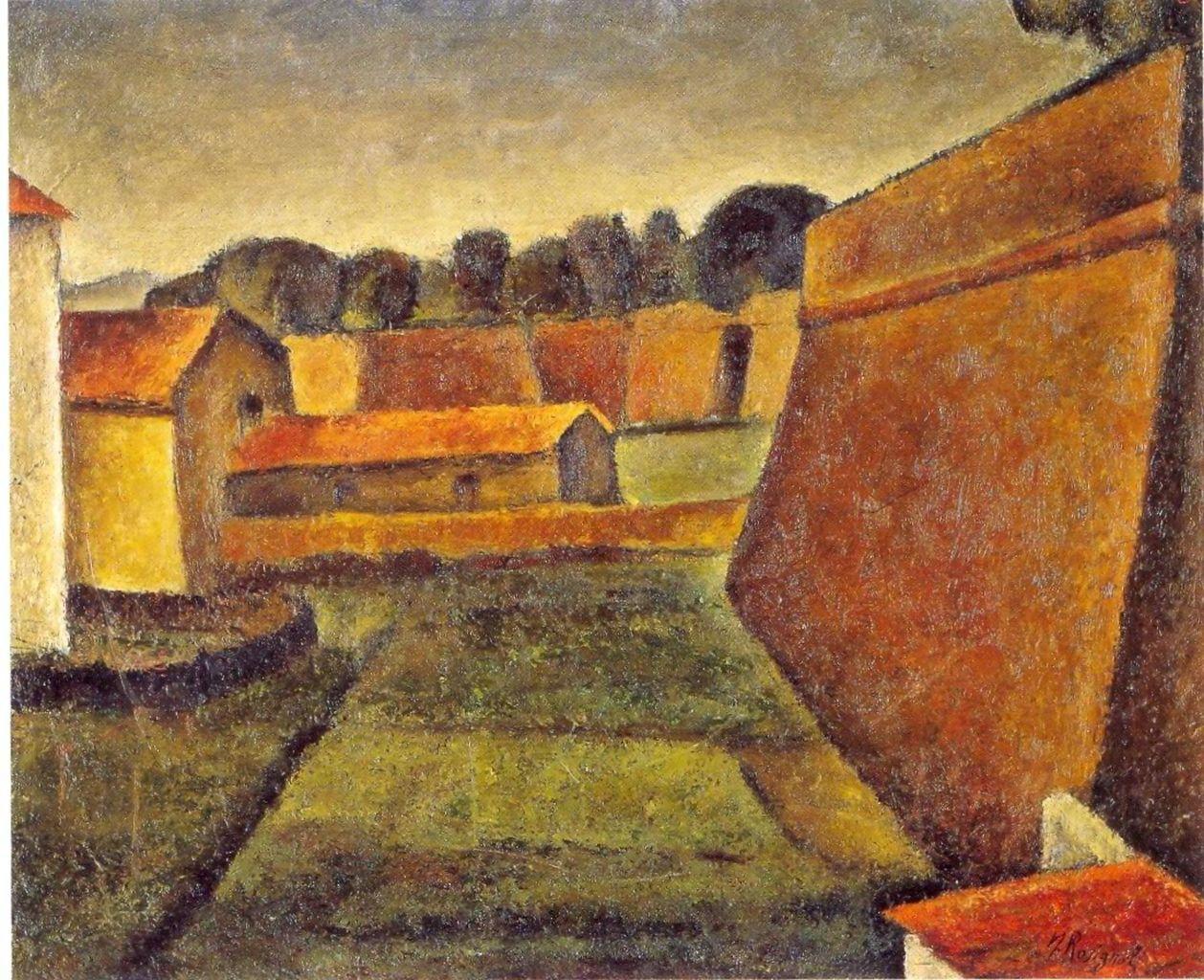 mura di Grosseto (dipinto) di Rosignoli Nazzareno (sec. XX)