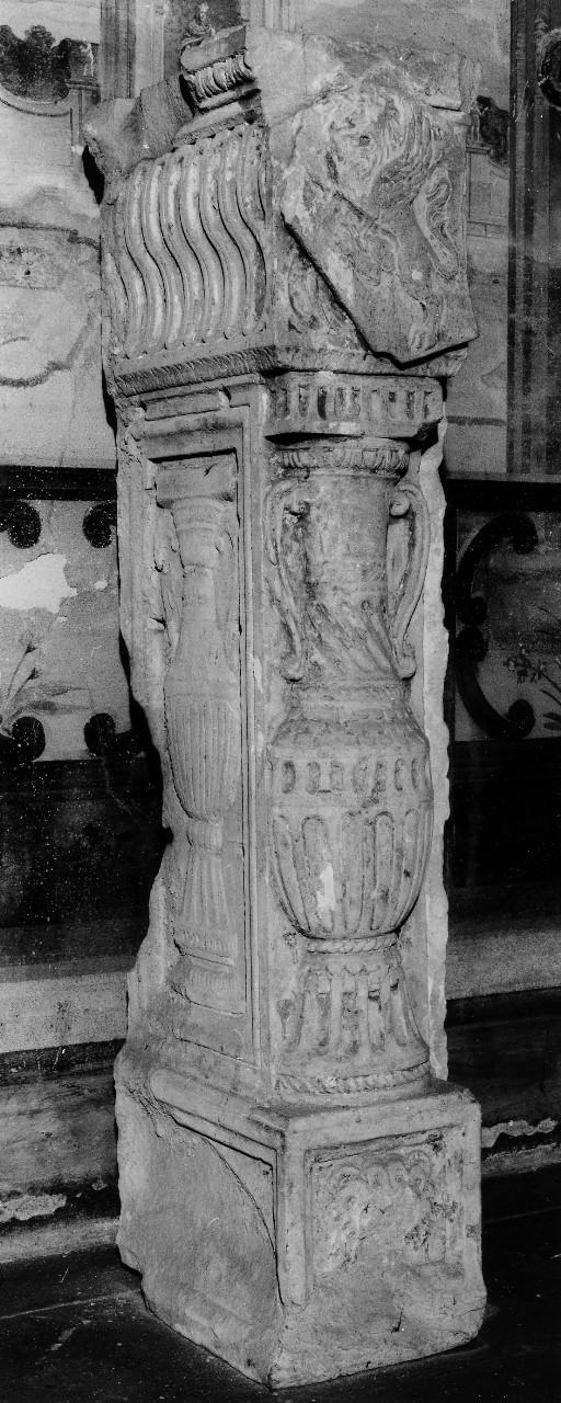 stemma gentilizio della famiglia Martelli (pilastro) - ambito toscano (seconda metà sec. XV)