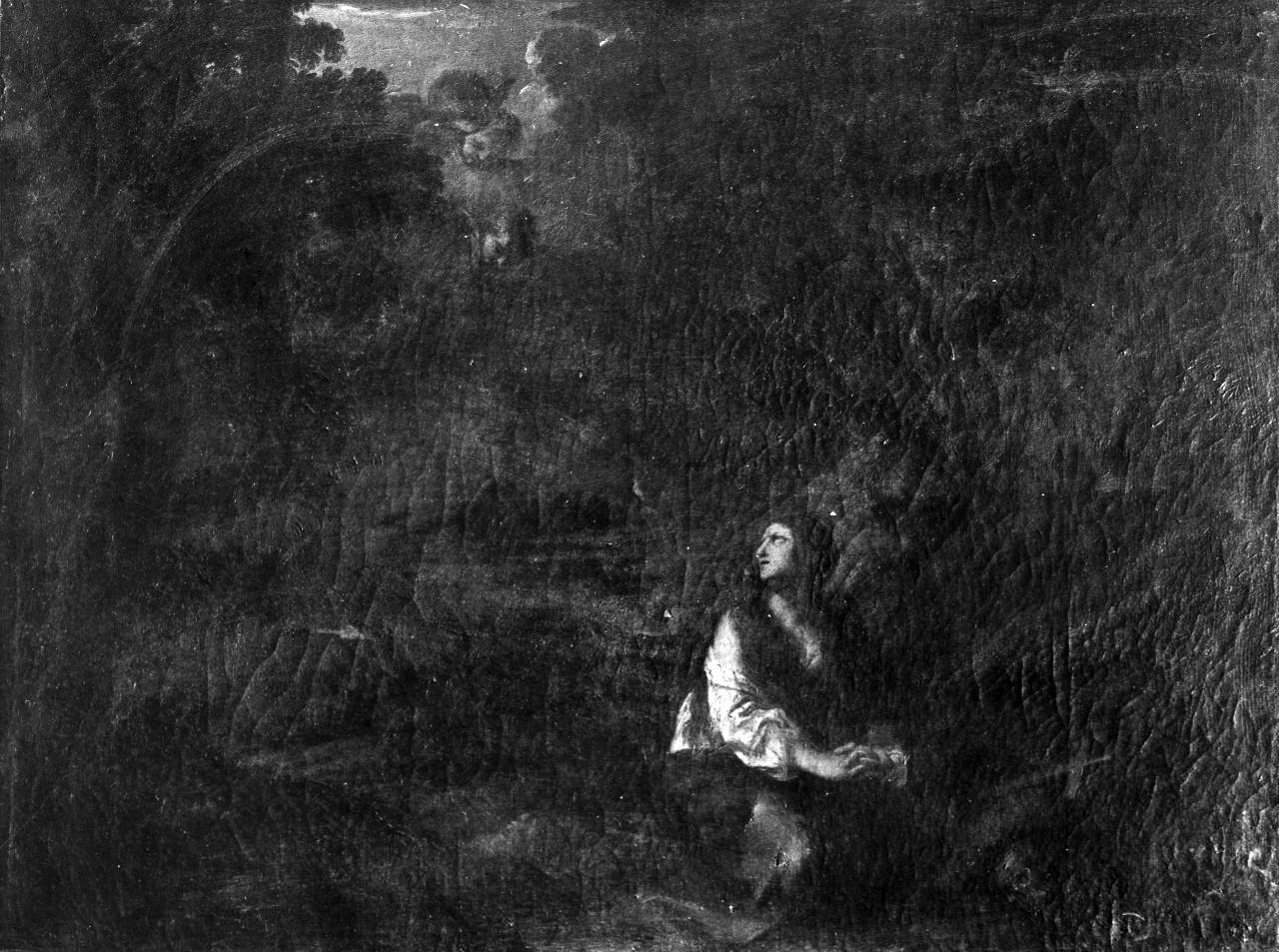 Santa Maria Maddalena penitente in un paesaggio (dipinto) di Mola Pier Francesco, Locatelli Andrea (sec. XVII, sec. XVIII)