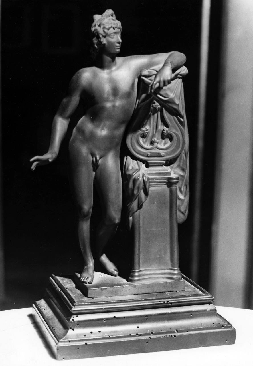 Apollo (scultura miniaturistica) di Soldani Benzi Massimiliano (attribuito) (sec. XVIII)