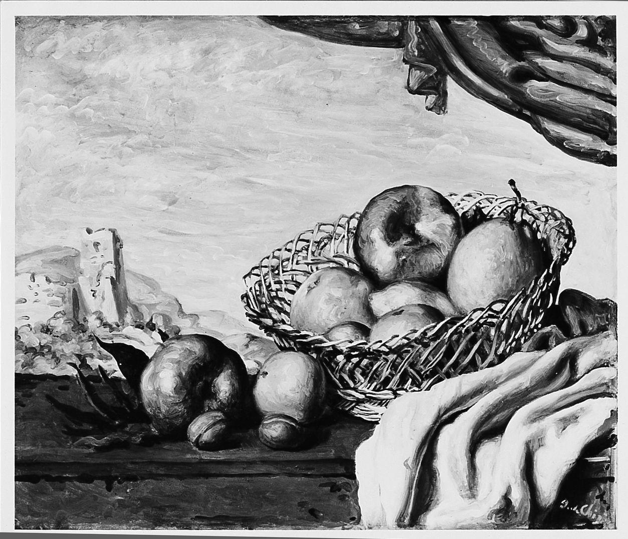 Natura morta con mele, natura morta (dipinto) di De Chirico Giorgio (sec. XX)