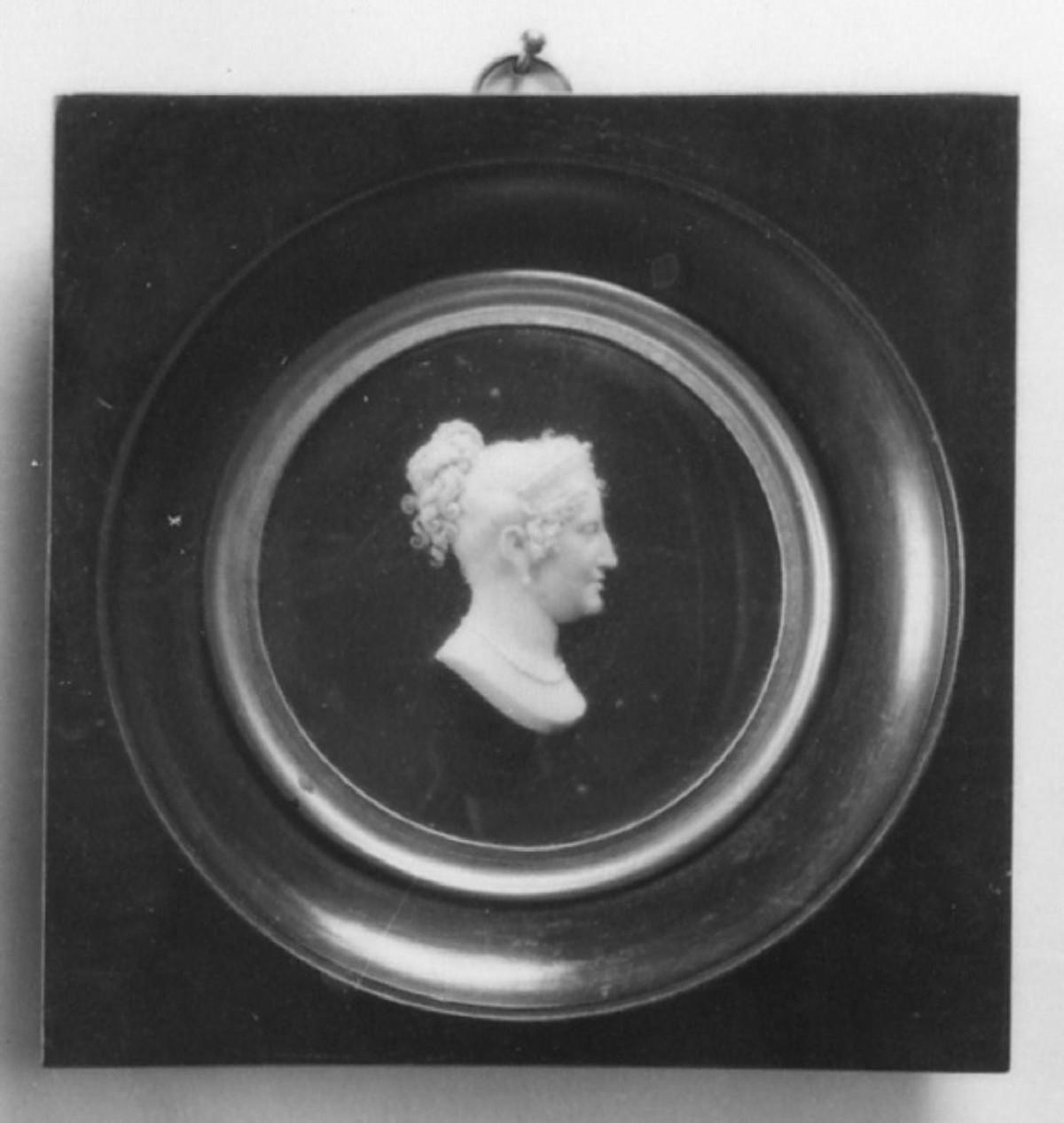 Ritratto di Maria Luisa di Borbone, ritratto di donna (rilievo) di Santarelli Giovanni Antonio (sec. XIX)