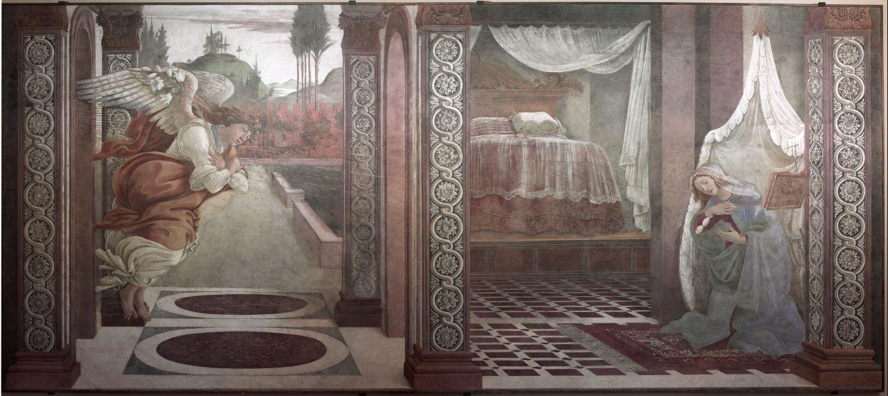 Annunciazione (dipinto) di Filipepi Alessandro detto Botticelli (sec. XV)