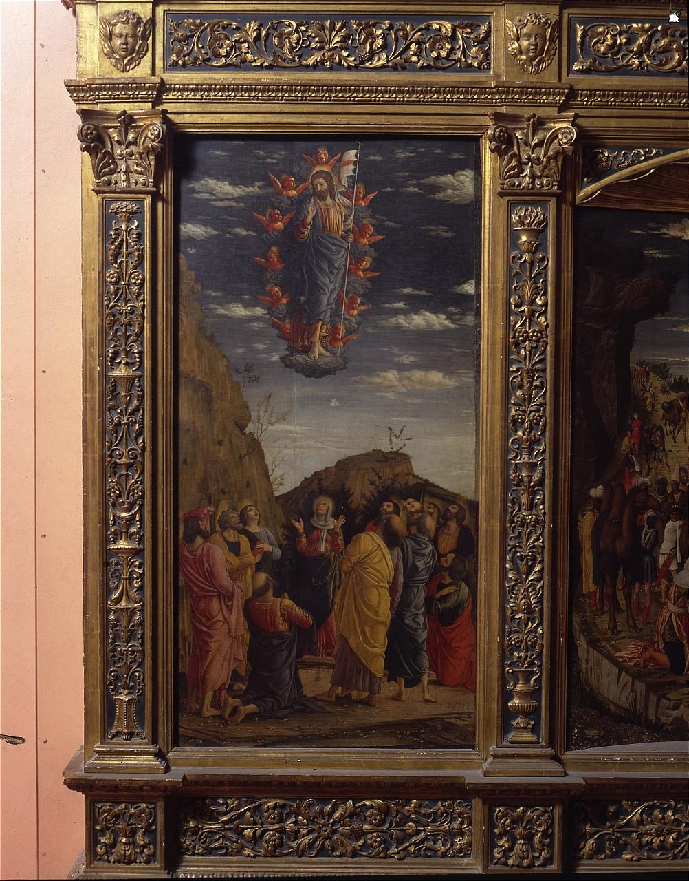 ascensione di Cristo (scomparto di trittico) di Mantegna Andrea (sec. XV)