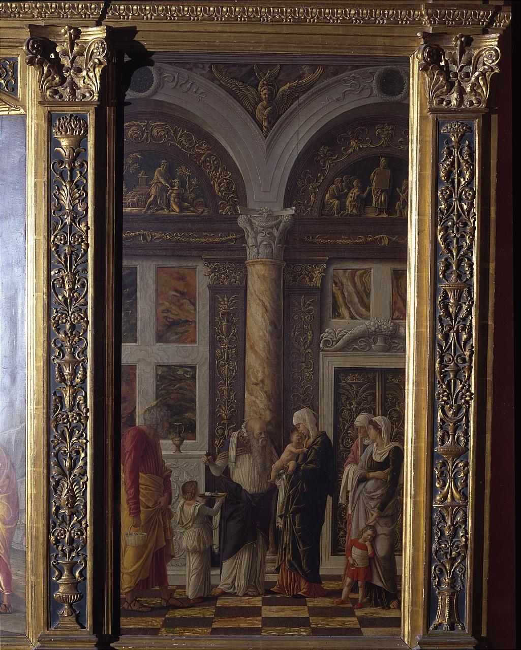 circoncisione di Gesù Bambino (scomparto di trittico) di Mantegna Andrea (sec. XV)