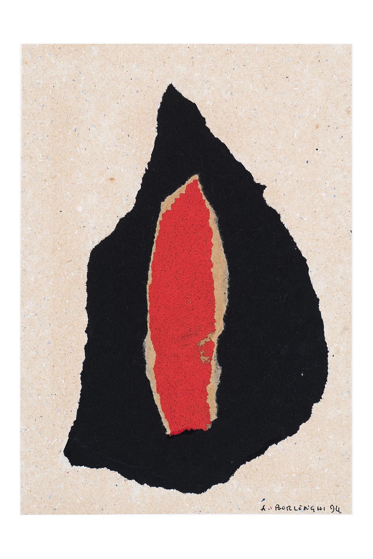 Interiorità, Soggetto astratto (dipinto, opera isolata) di Arturo Borlenghi (attribuito) - ambito Italia meridionale (xx)